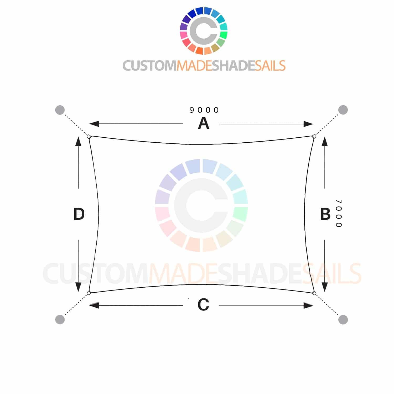 7x9 rectangle shade sail  u00bb custom made shade sails