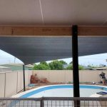 Triangle Shade over pool
