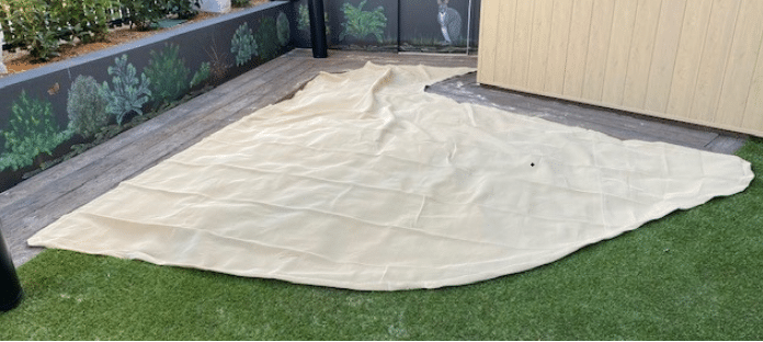 Custom Made Sand Pit Cover with Cut out for edge shape