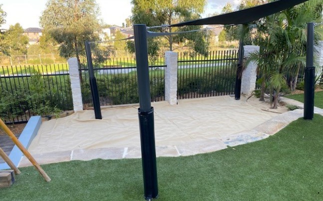 Large Custom Made Sand Pit with Cover